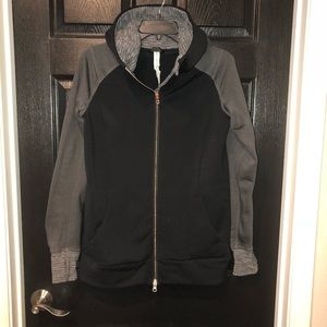 lululemon hoodie rose gold zipper size 6